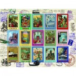Puzzle  Ravensburger-16602 Collection de Timbres