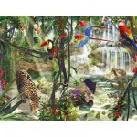 Puzzle  Ravensburger-16610 Animaux dans la jungle