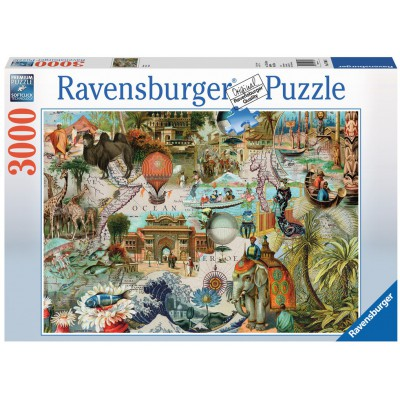 puzzle oceania ravensburger 17068 3000 pi ces puzzles cartes du monde et mappemonde planet. Black Bedroom Furniture Sets. Home Design Ideas