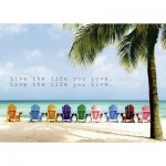 Puzzle  Ravensburger-19635 Live the life you love