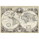 Puzzle  Ravensburger-19931 Do it Yourself - Carte du Monde Antique