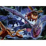 Puzzle   Color Star Line - Pièces XXL - Dragon