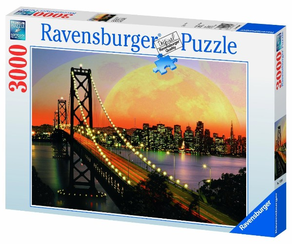 puzzle usa san francisco de nuit ravensburger 17039 3000 pi ces puzzles villes et villages. Black Bedroom Furniture Sets. Home Design Ideas
