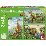 3 Puzzles - Dinosaures