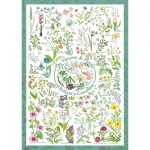 Puzzle  Schmidt-Spiele-59568 Countryside Art - The Flowers and Plants of Britain's Coastline