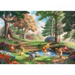 Puzzle  Schmidt-Spiele-59689 Thomas Kinkade - Disney - Winnie l'Ourson
