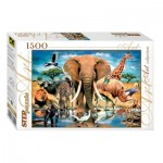 Puzzle  Step-Puzzle-83042 Animaux Sauvages Africains