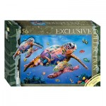 Step-Puzzle-83506 Puzzle in Puzzle Series - Tortues