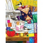 Puzzle  Sunsout-12550 Pièces XXL - Ashley Davis - Afternoon Quilt Mending
