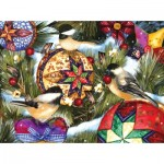 Puzzle  Sunsout-12559 Ashley Davis - Birds and Ornaments