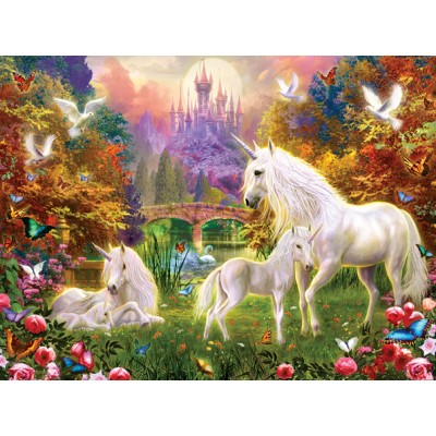 Puzzle Sunsout-15963 Jan Patrik Krasny - Castle Unicorns