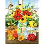 Puzzle  Sunsout-16099 Pièces XXL - Jane Maday - Autumn Jars