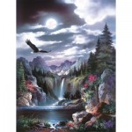 Puzzle  Sunsout-18005 Pièces XXL - James Lee - Moonlit Eagle