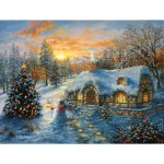 Puzzle  Sunsout-19224 Pièces XXL - Christmas Cottage