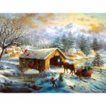 Puzzle  Sunsout-19327 Pièces XXL - Over the Covered Bridge