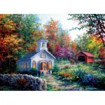Puzzle  Sunsout-19329 Nicky Boehme - Worship in the Countryside