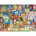 Puzzle  Sunsout-21941 Bill Bell - World of Cats