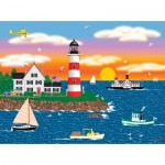 Puzzle  Sunsout-22619 Mark Frost - Triangle Point Lighthouse