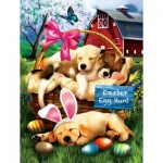 Puzzle  Sunsout-23012 Pièces XXL - Tom Wood - Sleepy Eyed Easter Egg Hunters
