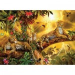 Puzzle  Sunsout-24409 Jan Patrik Krasny - Jungle Jaguars
