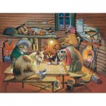 Puzzle  Sunsout-28005 Bryan Moon - Cats Playing Poker