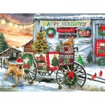 Puzzle  Sunsout-28708 Tom Wood - Holiday Wagon