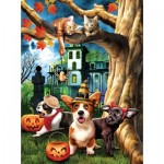 Puzzle  Sunsout-28713 Tom Wood - Halloween Hijinks