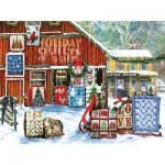 Puzzle  Sunsout-28735 Tom Wood - Holiday Quilts