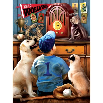 Puzzle Sunsout-28853 Pièces XXL - Tom Wood - Listening to the Game
