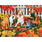 Puzzle  Sunsout-30407 Pièces XXL - The Leaf Collectors