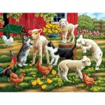 Puzzle  Sunsout-30439 Pièces XXL - Lambs on the Loose