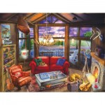 Puzzle  Sunsout-31425 Pièces XXL - Evening at the Cabin