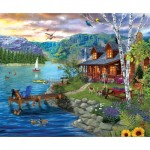 Puzzle  Sunsout-31559 Pièces XXL - Peaceful Summer