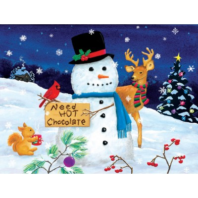 Puzzle Sunsout-32716 Pièces XXL - Kathy Kehoe bambeck - Need Hot Chocolate