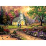 Puzzle  Sunsout-33709 Pièces XXL - Chuck Pinson - Country Church