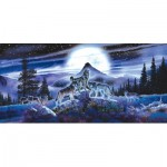 Puzzle  Sunsout-34626 Al Agnew - Night Wolves
