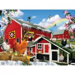 Puzzle  Sunsout-34944 Lori Schory - First Signs of Spring