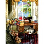 Puzzle  Sunsout-34983 Lori Schory - The Sewing Room