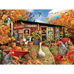 Puzzle  Sunsout-35086 Lori Schory - Chicken Crossing