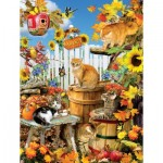 Puzzle  Sunsout-35143 Pièces XXL - Lori Schory - Harvest Kittens