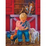 Puzzle  Sunsout-35816 Pièces XXL - Little Farm Friends