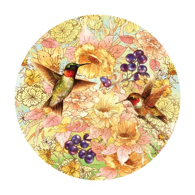 Puzzle Sunsout-37172 Giordano Studios - Hummingbirds and Berries