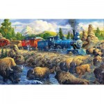 Puzzle  Sunsout-38851 Joseph Burgess - Delaying the Iron Horse