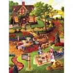 Puzzle  Sunsout-38872 Pièces XXL - Mary's Quilt Country