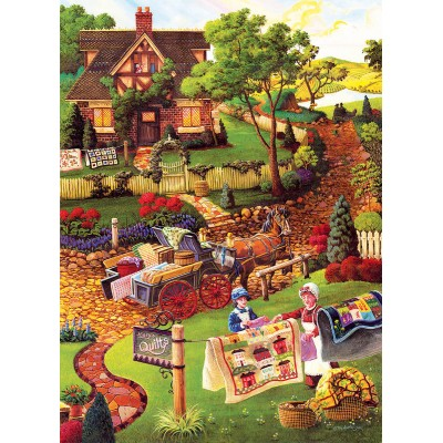 Puzzle Sunsout-38883 Pièces XXL - Joseph Burgess - Mary's Quilt Country