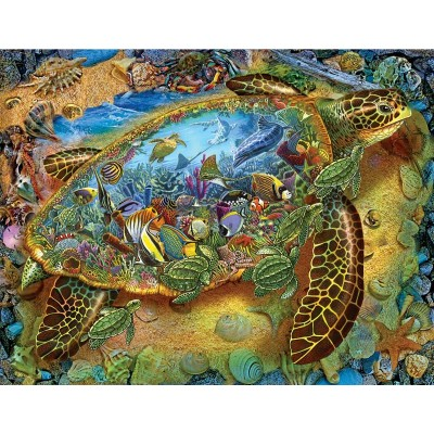 Puzzle Sunsout-39286 Lewis T. Johnson - Sea Turtle World