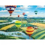 Puzzle  Sunsout-39374 Pièces XXL - Ballooner's Rally
