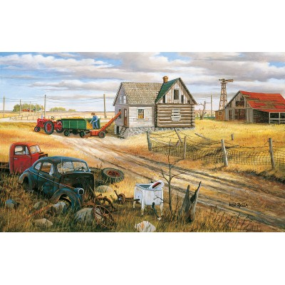 Puzzle Sunsout-39612 Ken Zylla - Homestead and Corn Crib