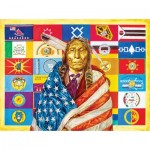 Puzzle  Sunsout-40085 David Behrens - Flags of Our Fathers