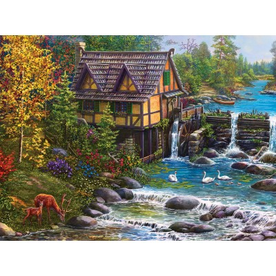 Puzzle Sunsout-42939 Mill by the Stream